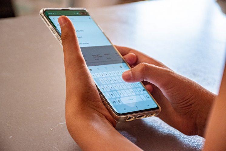 携帯電話のテキスト画面の画像